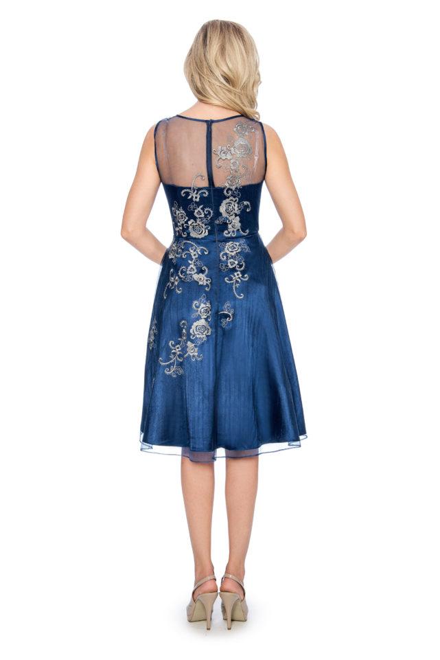 Embroidery applique short dress - short cocktail dress - wedding guest dress