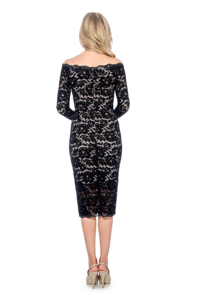 Off the shoulder velvet lace short dress - night out dress - short cocktail dress