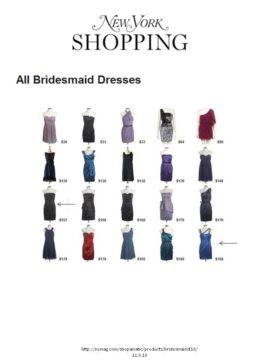 bridesmaid dress in Ny Mag