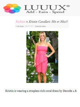 dress on Kristin Cavallari luuux