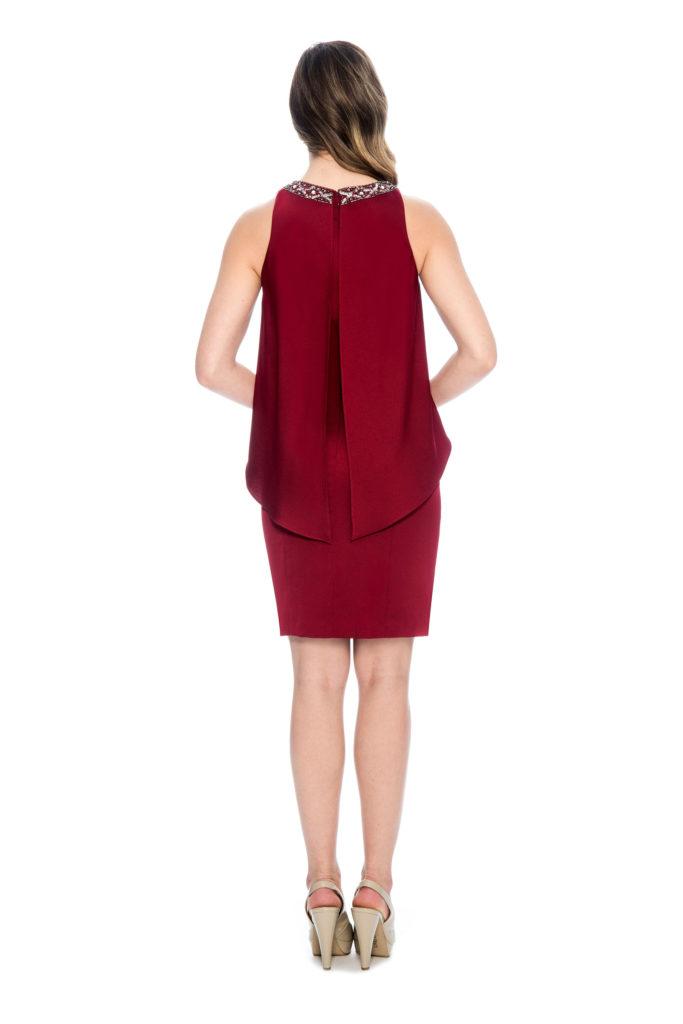 maroon short dress