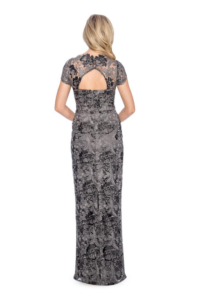 lace sequin dress - bridesmaid dress - formal evening dress - mother of bride dress- plus size dress