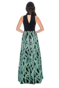 Mockneck printed ball gown-bridesmaid dress -formal evening dress- mother of bride- plus size