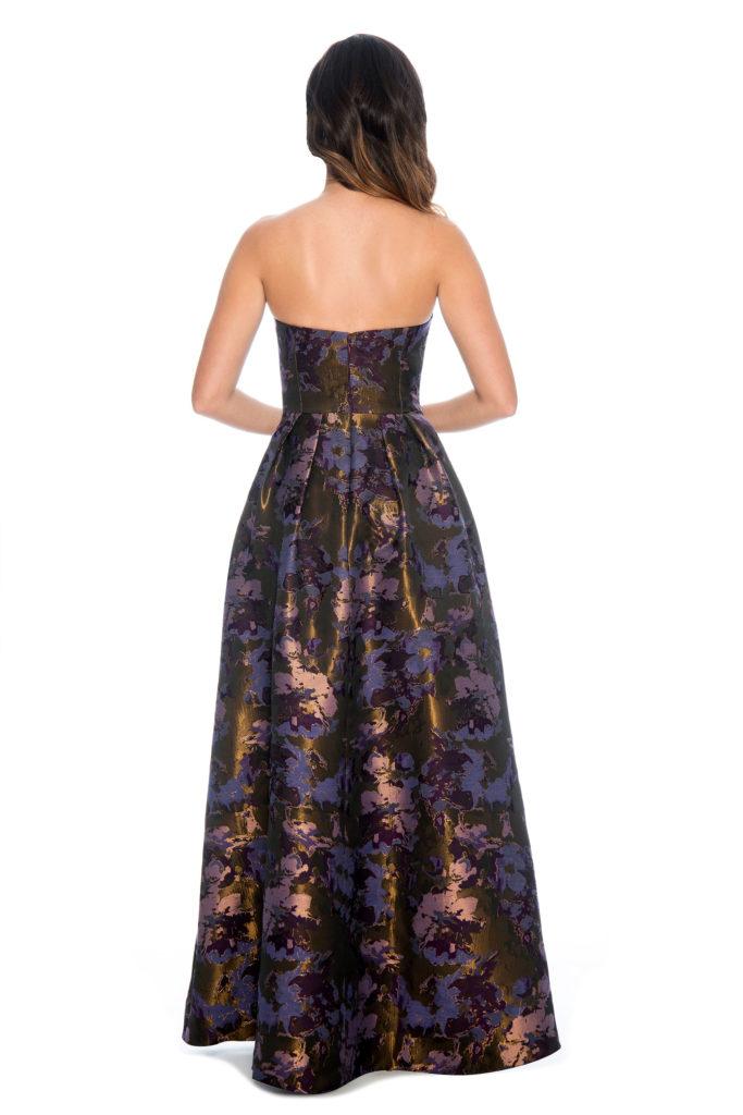Strapless printed ballgown - bridesmaid dress - formal evening dress - mother of bride dress- prom dress - homecoming dress