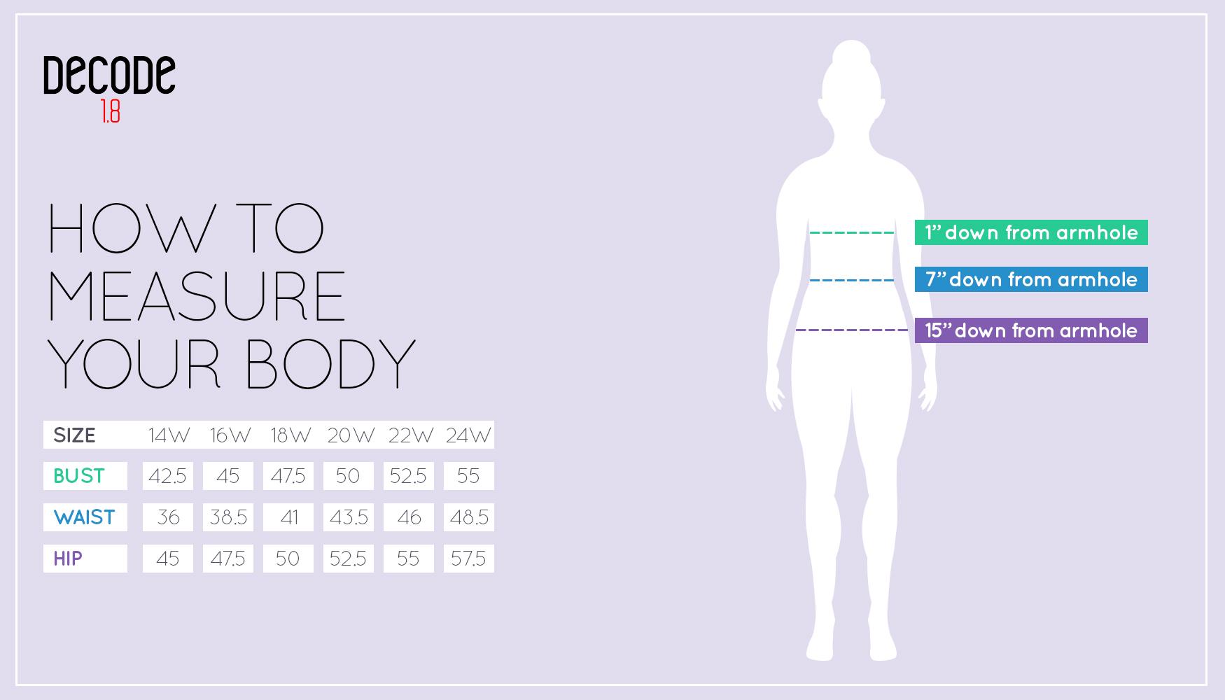 decode 1.8 size chart womens dresses