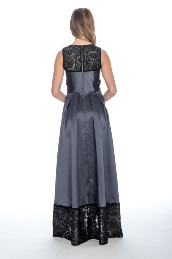 High low, lace, taffeta ballgown, long dress