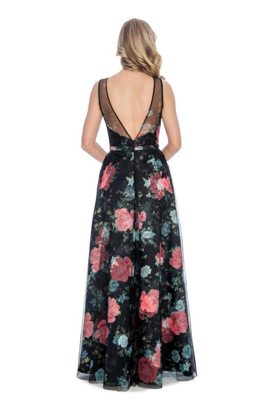 Floral print, ballgown, long dress