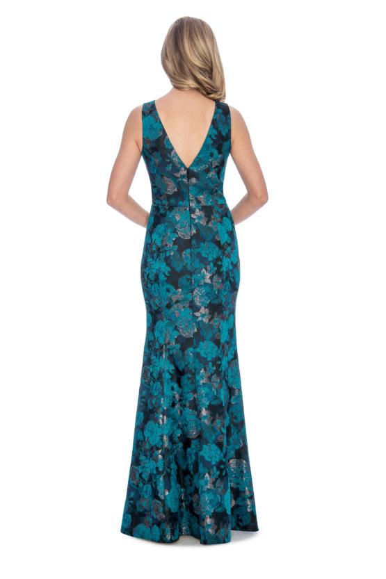 V neck, floral print, mermaid, long dress