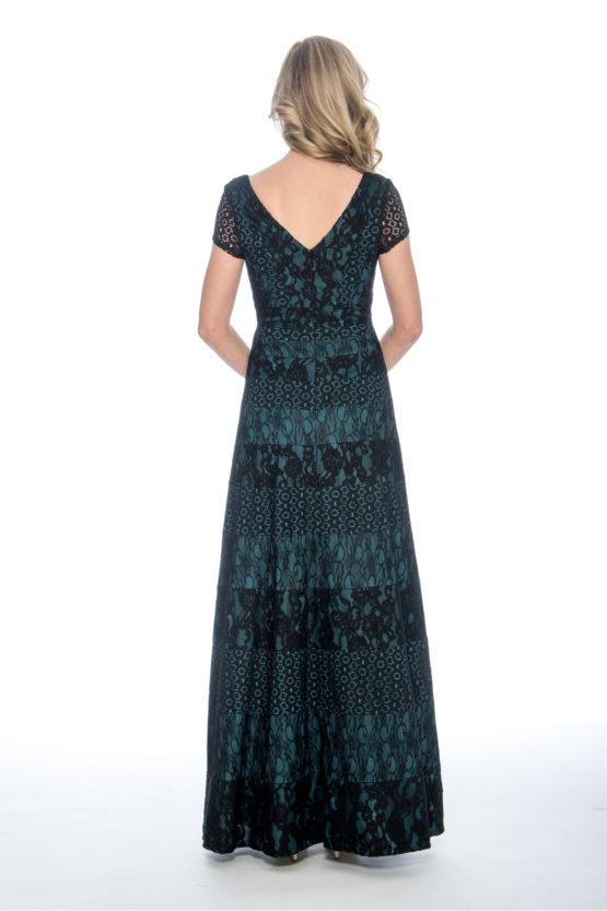 lace panel, ballgown, long dress