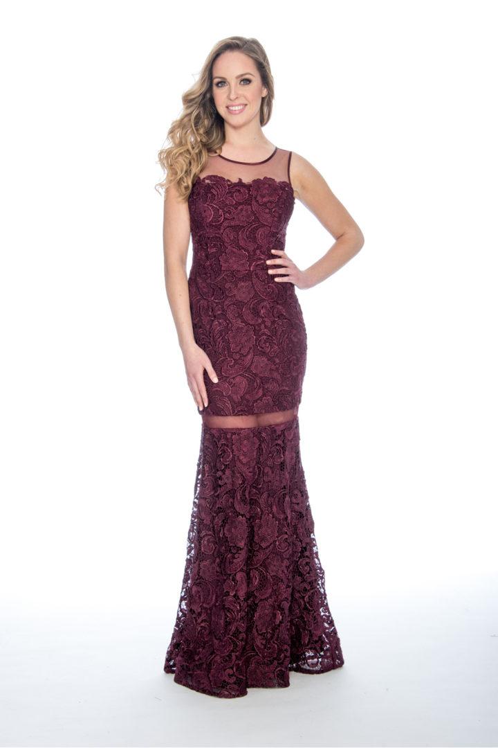 Lace, illusion, long dress