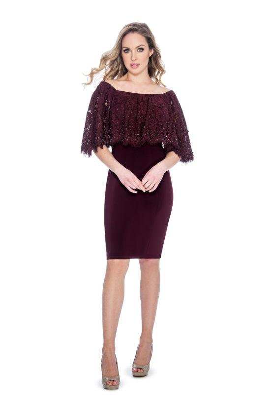 Cape overlay, short dress