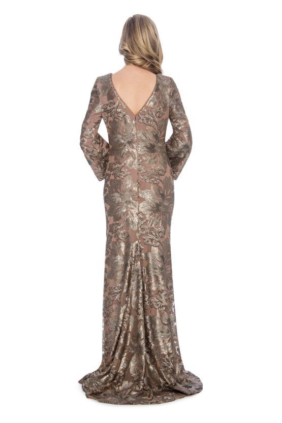 Bell sleeve, sequin, long dress