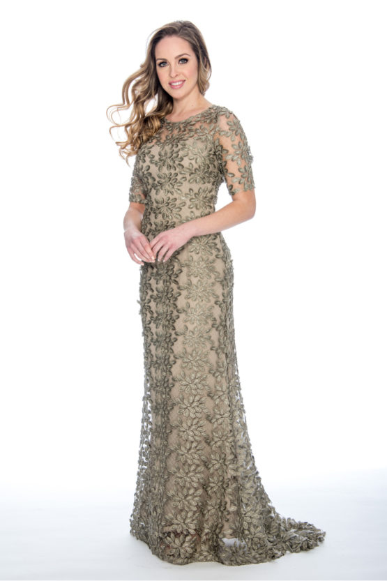 Soutache, lace, long dress