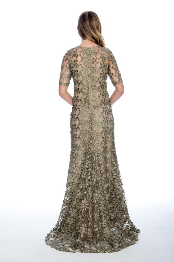 Soutache, lace, long dress