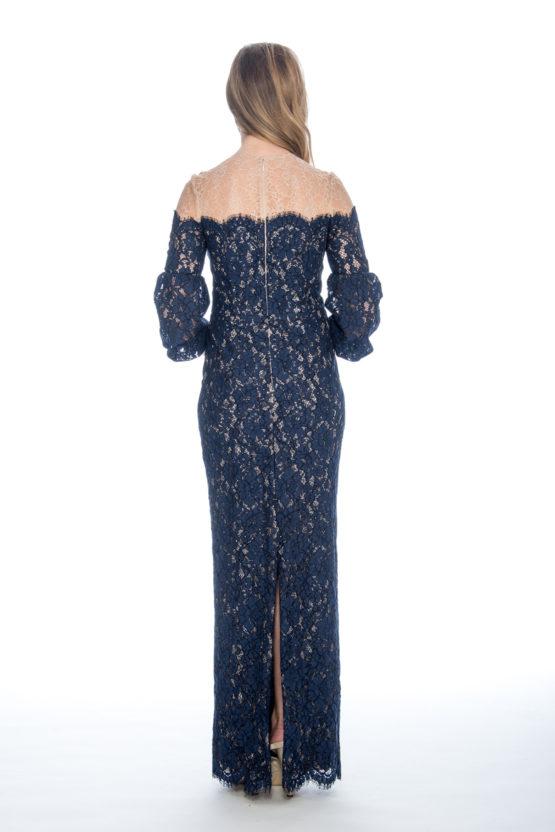 lace, long dress
