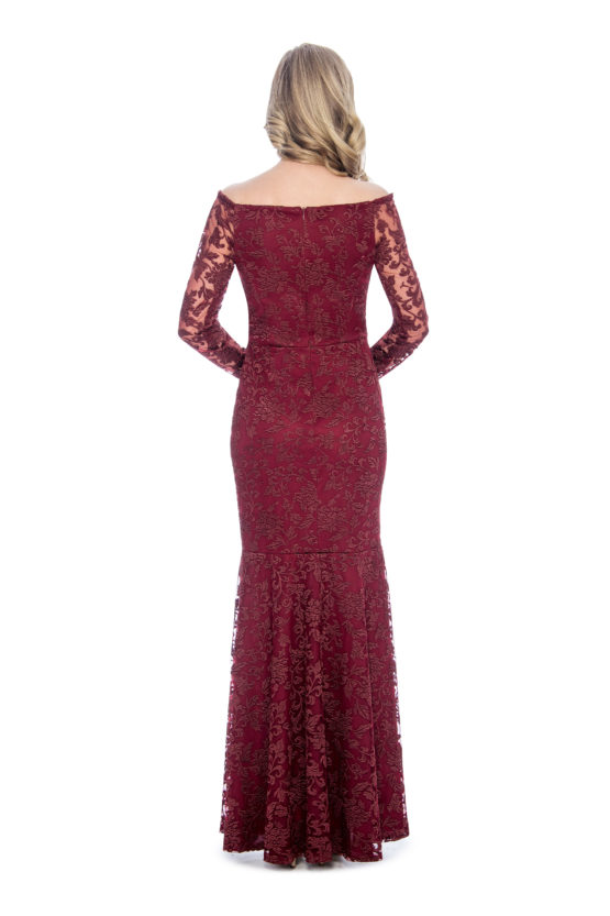 Off the shoulder, embroidery, long dress