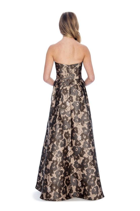 Sweetheart, printed, long dress