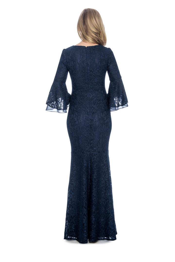 Bell sleeve, lace, long dress