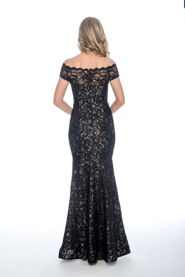 off the shoulder, lace, long dress