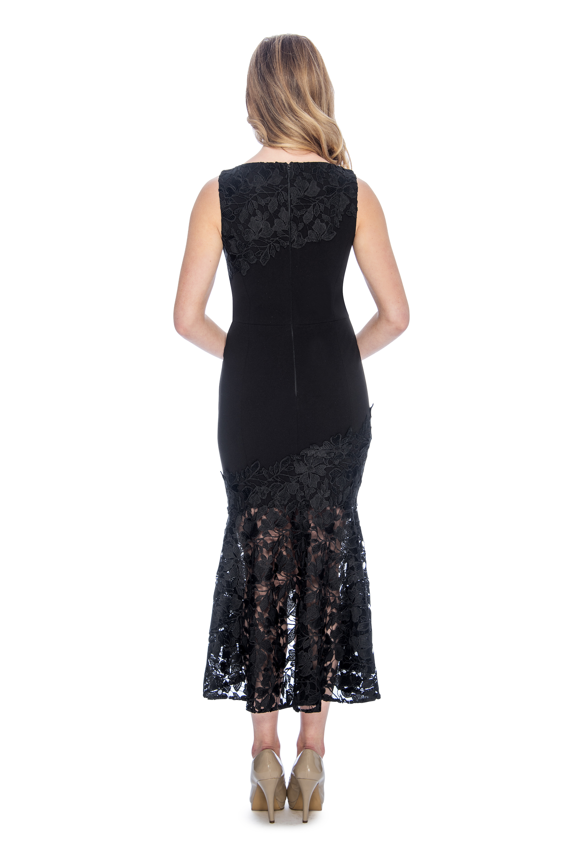 lace, trumpet, high low, short dress