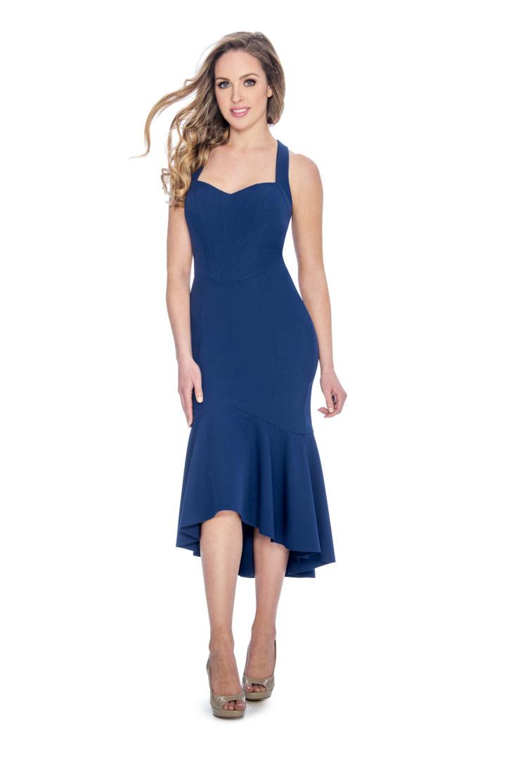 Sweetheart, trumpet skirt, midi dress