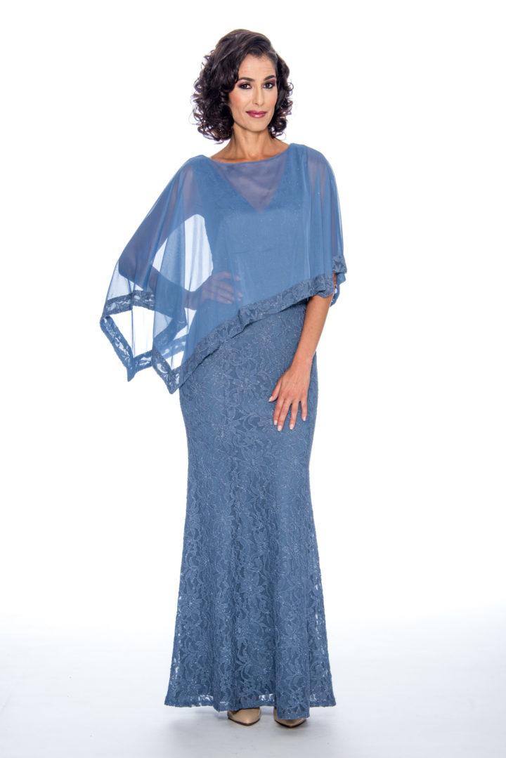 Lace, cape, long dress