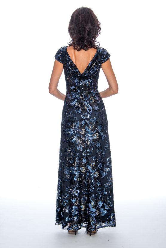 One shoulder, sequin, long dress